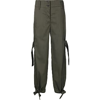 double-waist striped trousers - Green Lost And Found Rooms