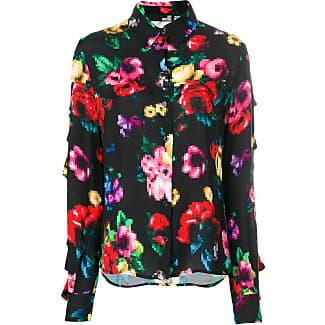 Love Moschino Woman Ruffled Floral-print Chiffon Blouse Marigold Size 40 Love Moschino