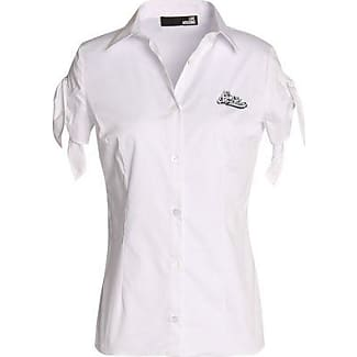 Love Moschino Woman Appliquéd Stretch Cotton-poplin Shirt Off-white Size 44 Love Moschino