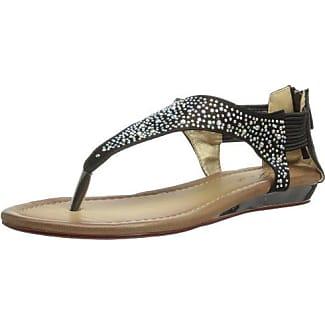 Unze Evening Slippers L18498W - Sandalias para mujer, color negro, talla 38