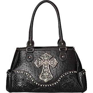 M&F Western Products Shelby Satchel (Black) Satchel Handbags