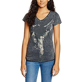 M.O.D SU17-TS247, Camiseta para Mujer, Negro (Charcoal Allover 1911), M