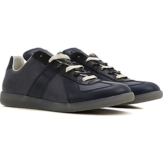 Maison Martin Margiela Sneakers For Men On Sale Navy Leather