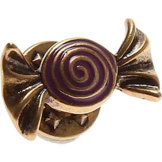 Marc Jacobs Brooch and Pin for Women, Black, Brass, 2017, One Size