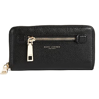 Snapshot Standard Continental Wallet in Black and Chianti Split Cow Leather Marc Jacobs