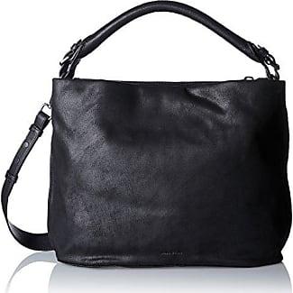 Sandnes 3, Black/taupe Fur, Hobo S18, Womens Satchel, Black, 14x32x31 cm (B x H T) Bree