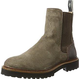 Marc O'Polo Flat Heel 70814195001309, Botas Chelsea para Mujer, Gris (Dark Grey), 40 EU
