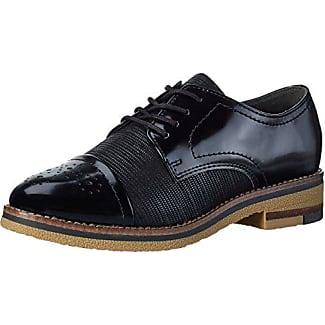 23201, Zapatos de Cordones Derby para Mujer, Negro (Black Patent), 37 EU Marco Tozzi
