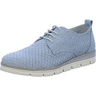 Marco Tozzi 23705, Zapatos de Cordones Brogue para Mujer, Azul (Denim Pat.Com.), 36 EU