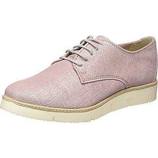 s.Oliver 23652, Zapatos de Cordones Derby para Mujer, Rosa (Rose Metallic 519), 39 EU