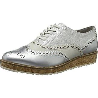 Marco Tozzi 23726, Zapatos de Cordones Brogue Para Mujer, Rosa (Rose Met. Comb), 36 EU