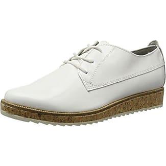 Marco Tozzi 23707, Zapatos de Cordones Brogue para Mujer, Blanco (White Comb), 37 EU