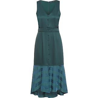 Vestido longo verde maria filo