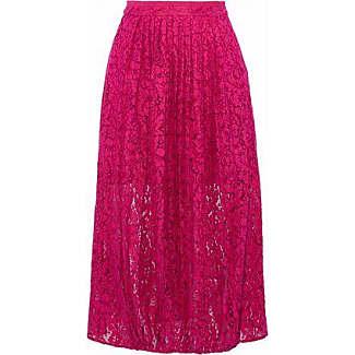 Markus Lupfer Woman Pleated Cotton-blend Lace Midi Skirt Pink Size XS Markus Lupfer