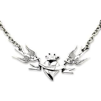 Metal Couture Sterling Silver Swallows, Heart & Banner Locket