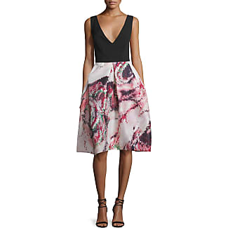 Monique lhuillier full skirt cocktail dress