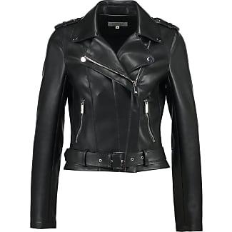 Blouson cuir noir femme morgan