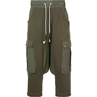drop crotch cargo hybrid pants - Green Mostly Heard Rarely Seen