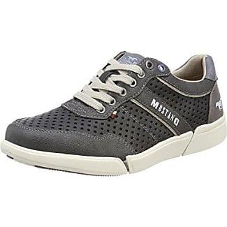 Mustang - Zapatos de cordones para hombre, color gris, talla 42 EU