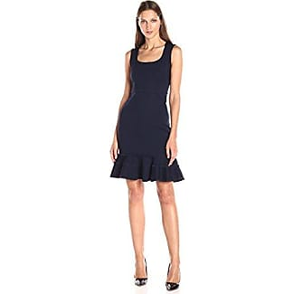 Black high collar ponte dress definition