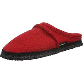 Nanga Jasmina - zuecos de lana mujer, color rojo, talla 38