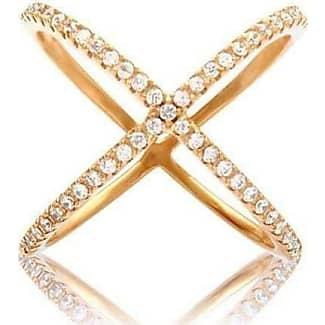 Nialaya Cross Over Ring in Silver - UK L - US 5 1/2 - EU 51 3/4