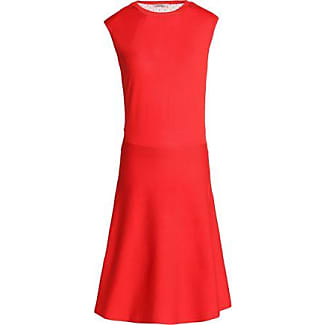 Nina Ricci Woman Tulle-paneled Wool And Silk-blend Dress Red Size S Nina Ricci