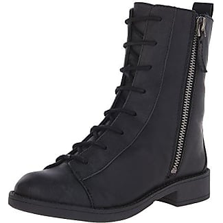 Womens Nine West Women's Froyo Leather Motorcycle Boot Cheap Sale Size 36