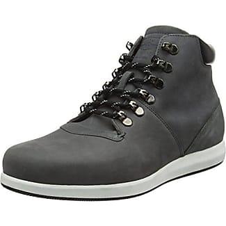 Geox William A - Zapatillas de cuero para niños, color negro (black leather), talla 27 EU (9 UK Child)