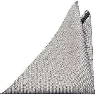 Handkerchief - Frosty herringbone pattern in silver grey melange Notch