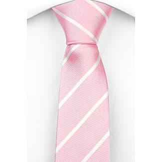 Silk Slim necktie - Ribbed, light pink base with small, white dots - Notch HANA Notch