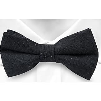 Wool Pre tied bow tie - Classic dark blue with thin stripes in white - Notch WARNER Notch