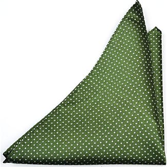 Handkerchief from Tieroom, Notch GOMEZ, Forest Green base & small silver white dots Notch