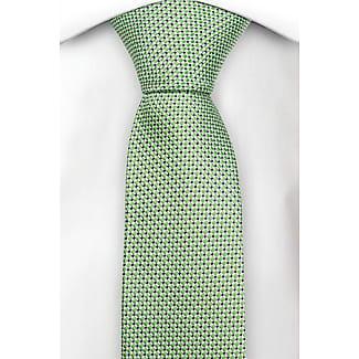 Silk Slim necktie - Small diamond pattern in very dark green and light green - Notch MILAN Notch