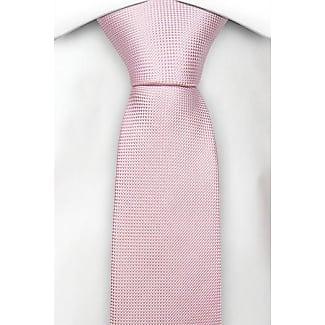 Boys tie medium - Light apricot with tonal herringbone pattern Notch