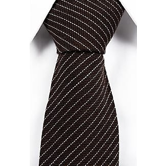 Silk Slim necktie - Black, ribbed base with small, orange stars - Notch MARLEY Notch