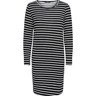 Only jurk zwart wit