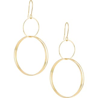 Alór Double Cable Diamond Hoop Drop Earrings