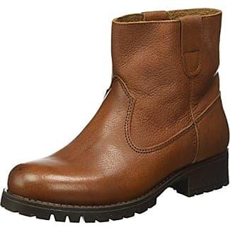 Pieces Pspaccia Leather Boot, Botas de Nieve para Mujer, Marrón (Cognac), 41 EU