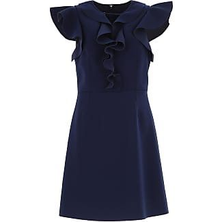 Dress for Women, Evening Cocktail Party On Sale, Blue, polyester, 2017, 12 6 8 Pinko