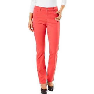 Womens Straight Trousers, Red (Coral Red 192), 36/30 Pioneer Authentic Jeans