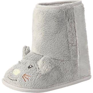 Baby Fell-Schuh Mäuschen von Playshoes, Art. 103475 103475 - Zapatillas de casa para bebé, color gris, talla 16/17 Playshoes