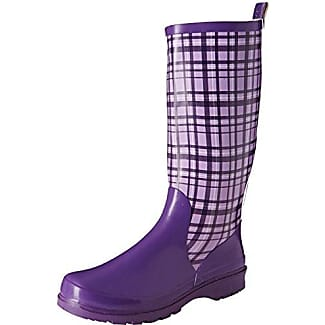 Plaid Wellies Wellington Boots- Bottes de neige femme - Violet - Purple - Violett (flieder 10), 38 EU (5 UK)Playshoes
