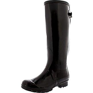 Damen Adjustable Back Tall Winter Regen Wellies Gummistiefel Stiefel - Braun - BRO38 ABL0045 Polar