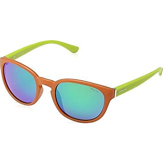 Police Occhiali Da Sole S1937 Hot 2 Ovali, Orange & Lime Green Frame/blue/green Mirror Lens