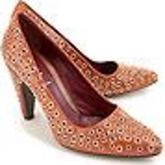 Zapatos de Tacón de Salón Baratos en Rebajas Outlet, Miel, Piel, 2017, 36.5 Prada