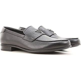 Prada Zapatillas de Piel Para Hombre, Color Gris, Talla 41.5 EU