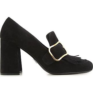 Pumps & High Heels for Women On Sale, Black, satin, 2017, 7.5 Prada