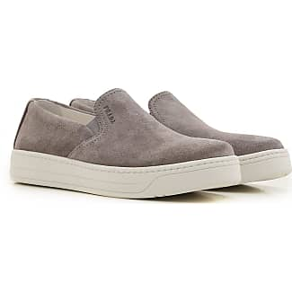 Sneakers for Women On Sale in Outlet, Smoke, Leather, 2017, 2.5 7.5 Prada