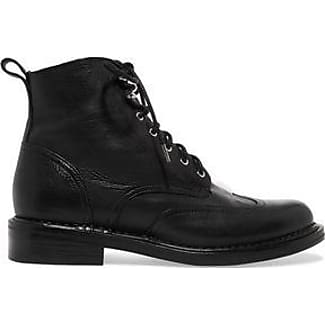 RAG&BONE Woman Buckled Leather Boots Dark Size 35